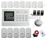 Free shipping, Tri-band,  Wireless wired 8 & wireless 99 zones, LCD display,burglar/intruder home safe alarm system.