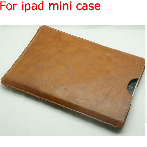 Free Shipping Hot Sale Popular Tablet PC Leather Skin Pouch Bag Protective Case For Apple Ipad Mini Notebook,Large Stock!(China (Mainland))