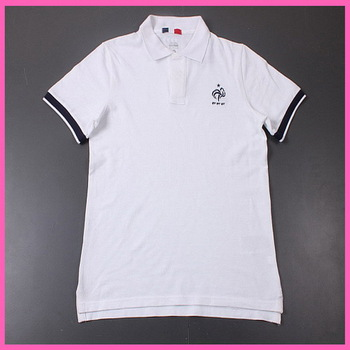 2014 Factory Price Embroidery Logo France Soccer Polo Shirt,Original Quality France White Polo,Thai Quality