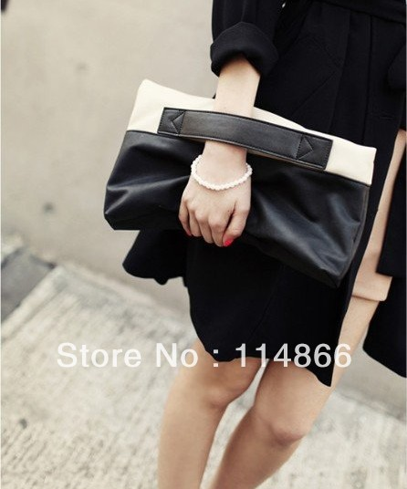 Hot Sale! Promotion! Personalized New Fashion Brand Design PU Women Noble Clutch Bag Handbag Tote Bags FREE Shipping(China (Mainland))