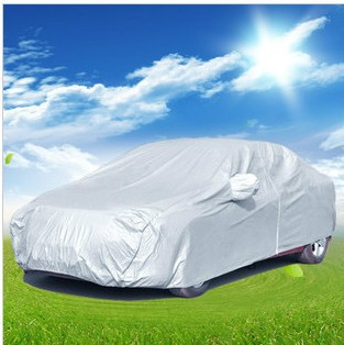 B Free shipping 1pcs silver color Car Covers Sunscreen dust-proof anti-UV,universal suit