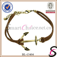 Mini order is $15 Fashion anchor rope bracelet leather bracelet Free Shipping