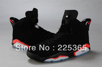 EMS AIR 2013 Free Shipping Top quality Leather Famous Trainers 6 Retro Men's Sports Basketball Shoes