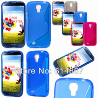 Factory Price- S Line Wave TPU Skin Soft Case Cover For Samsung Galaxy S4 i9500, DHL Free Shipping 500pcs/lot