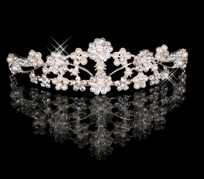 Bridal accessories hair accessory hair stick hair accessory pearl rhinestone big hg-06(China (Mainland))