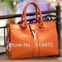 Best Selling!!fashion organizer Satchel lady's PU Leather bag women designer briefcase handbag Free Shipping