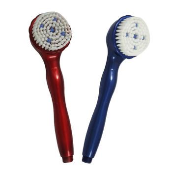 Multifunctional massage shower brush with wool nozzle two-site hand shower belt massage stick