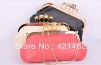 Clearance Ring  Shoulder Skull Clutch Bag Handbag with Chain Purse wristlet Bags wallet Handbag