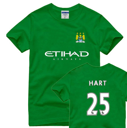 Hutt t-shirt manchester city keeper jersey short-sleeve cotton xj(China (Mainland))