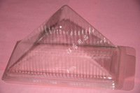 free shipping, Disposable sandwich cake  West  plastic transparent cake box 100 pieces/lot