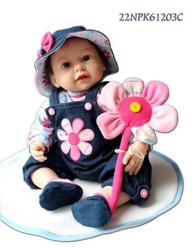 reborn baby 55cm / 22 inch simulation dolls silicone vinyl reborn dolls fnished dolls,lifelike baby dolls