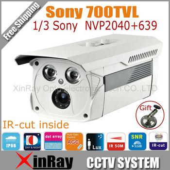"1/3"" SONY CCD 700TVL Waterproof CCTV Camera,50m IR Home Security Camera with IR-cut Inside,Metal Bracket as Gift ,XR-ICAB"