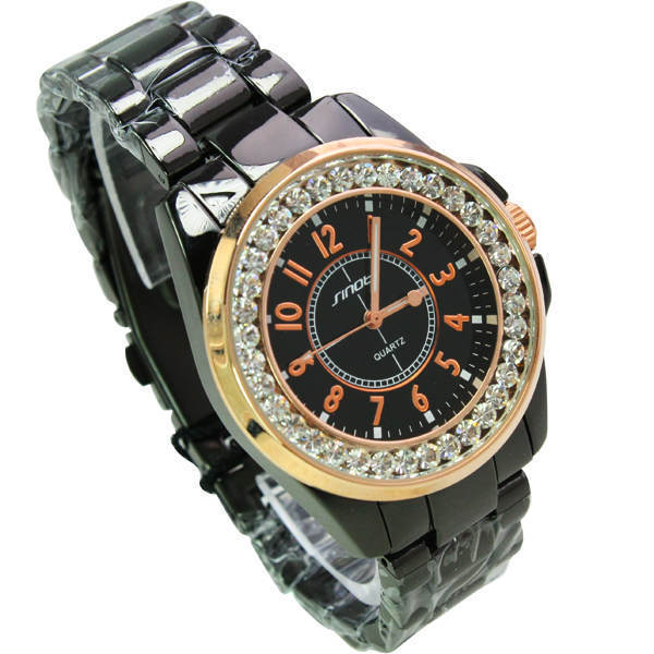 Rose between black rose Jin Shiying steel band watches for men 151842 Free Shipping(China (Mainland))