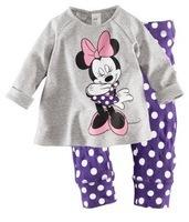 Children Girl Sleepwear Baby Pajamas 6sets/lot Free Shipping