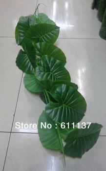 Artificial Lotus leaf garland high simulation 40pcs/lot grape vine wedding home party event decoration