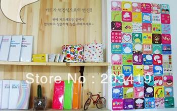 Creative cartoon lovely cute cup mat coaster message paper card random design shipping CN post