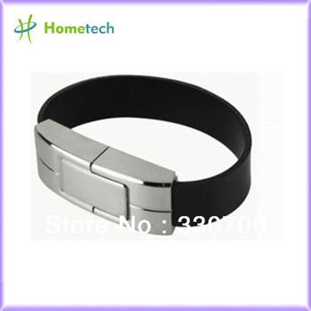 Metal wristband  Leather USB Flash Drive HT-705 full capacity 1GB/2GB/4GB/8GB/16GB/32GB