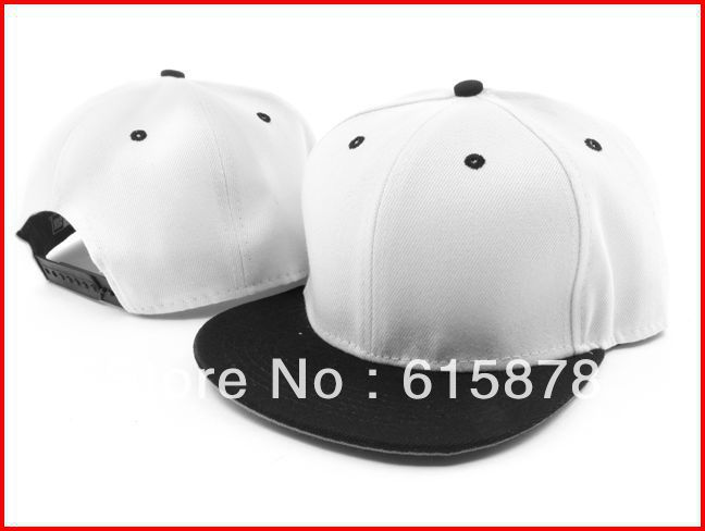 Free Shipping Mens Hats And Caps Snapback Baseball Hat Cap Plain Basic Blank Two Tone Colors Flat Bill Many Colors Mix Order(China (Mainland))