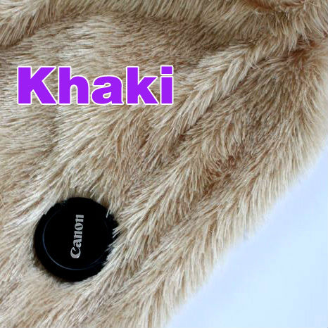 Khaki, Pv plush fabric velvet soft plush, DIY dolls, jewelry dispaly background Minky fabric Sold by the yard, free shipping(China (Mainland))