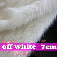 "Milk White SHAGGY FAUX FUR FABRIC (LONG PILE FUR) displaying background , jewellery 36""X60"" SOLD BY THE YARD, Free shipping"