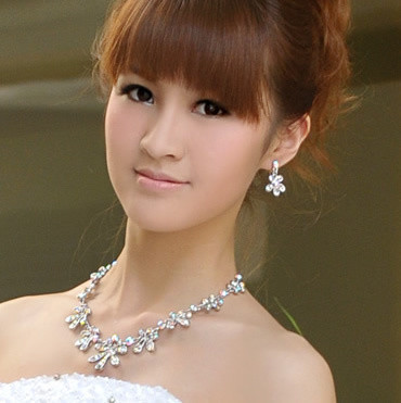 2013 new arrive 2012 necklace earrings set - - princess bridal accessories wedding accessories hj9938 free shipping !(China (Mainland))