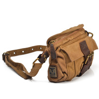 freeshipping Fashion 2014 vintage mini waist pack casual small shoulder bags small sports bags male personality canvas bag