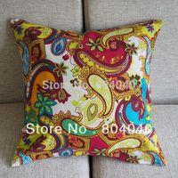 """PK101 Free P&P Wholesale High Quality Cotton Blend Linen Decor Pillow Case Cushion Cover Square 17"""" 43cm Multi-colored Floral"""