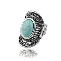 Fashion Jewelry Wholesale,Tibet Silver Alloy Retro Turquoise Rings for Women,Retro Turquoise Jewelry Free Shipping AR027