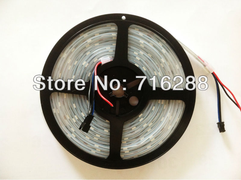 factory wholesale WS2811 IC 48LEDS/M LED digital strip Waterproof DC12V Free Shipping 60m/lot(China (Mainland))