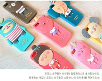 Mobile Phone Silicon rubber Cover for iphone,Cartoon Protector Case,Dirt-resistant,Le-0303 Free Shipping wholesale