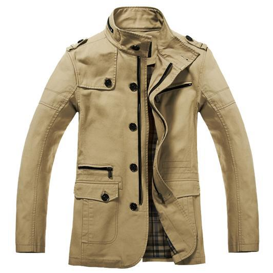 Wholesale-2015 Spring Men&39s Trench Coat Casual Fashion Mens