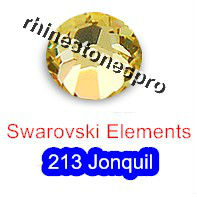 ss12 GENUINE Swarovski Elements Jonquil ( 213 ) 144 ( NO hotfix Rhinestone ) Round Clear Glass Crystal 12ss 2058 FLATBACK Art(Hong Kong)