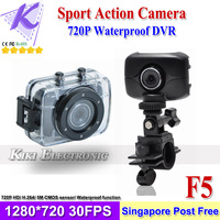 "2013 Go Pro Sport Action Camera 720P HD Waterproof Mini Sport DVR Recorder 60FPS 2.0"" Touch Panel 4X Digital Zoom SG Post Free"