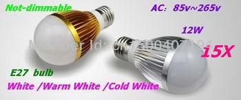 15XFactory diectly sale led Bubble Ball Bulb globe bulb E27 GU10 B22 E14 12W AC85-265V led Globe Light Bulb Lamp Lighting