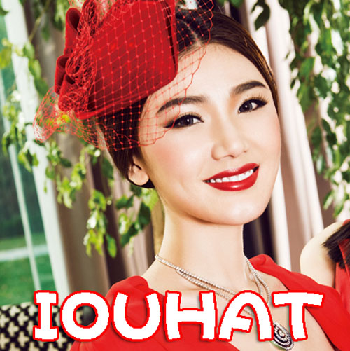 2013 Fashion vintage bride wedding hat female summer small fedoras woolen hair accessory red beret(China (Mainland))