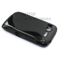 2 Piece a Lot Black BK TPU Gel Soft Case Cover S-Line Wave For HTC Desire S G12 S510E Hong Kong Seller