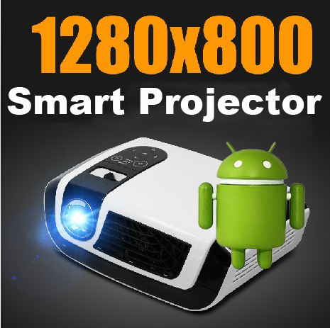 Home Entertainment Full HD Video Projector Android 4.0 Wifi Wireless Portable Mini LED proyector projecteur VGA HDMI for 1080P(China (Mainland))
