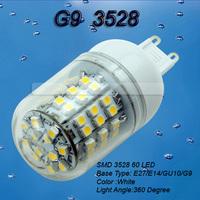 5pcs G9 3528 SMD 60 LED High Power Warm White Home Light Lamp Bulb Spotlight