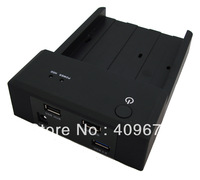 Free Shipping Horizontal USB3.0 HDD Docking Station+USB2.0 HUB Charger for Phone