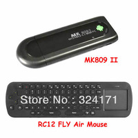 Free Shipping MK809 II Android 4.1 Mini PC HDMI Dual core1GB RAM 8GB Bluetooth MK809II + Fly air mouse RC12 With touch pad