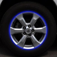 Free shipping 14-18 inch automobile motorcycle wheel hub  reflective sticker label Reflective Strips 4 colors cool style