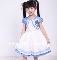 Free Shipping! ! !Veil cowboy of the highlights of the new summer children's clothing children dress
