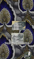 Free Shipping 6 YARDS super fashion veritable African wax prints cotton fabric high quality,Ankara Fabric for wedding,S803(China (Mainland))