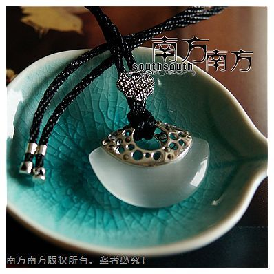 Laoyinjiang handmade pure silver jewelry - eye vintage royal Women chain sets necklace -(China (Mainland))