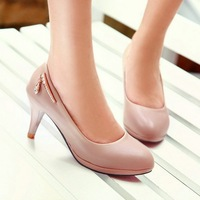 7cm     Korean Ladies temperament is fine with the high heels shoes pumps single shoes HMLD-212