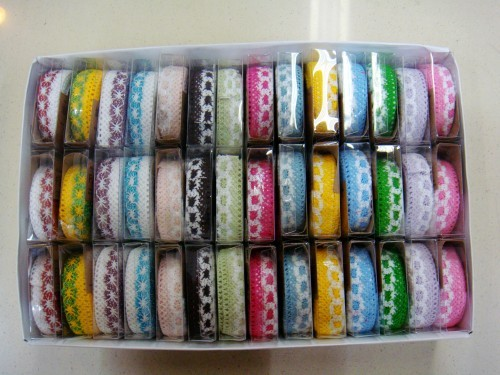 Diy cloth two-color lace decoration tape(China (Mainland))