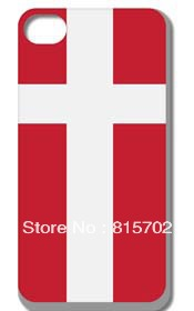 Denmark National Hard case cover for iphone 4 4s 4g 4th free shipping 10pcs/lot(China (Mainland))
