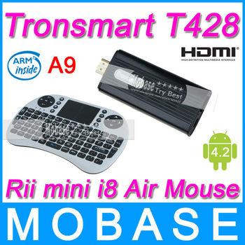 [Rii mini i8 Air Mouse] Tronsmart T428 Quad Core TV Box Android 4.2 Mini PC RK3188 Cortex-A9 1.8GHz 2G/8G Bluetooth HDMI WiFi