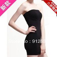 Tight long  tube top long tube top dress basic skirt fashion all-match strapless boob tube top