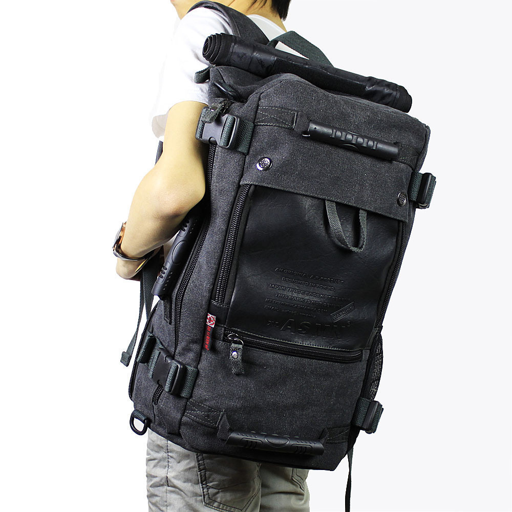 Freeshipping hot Baoxie shoes canvas backpack travel bag backpack school bag multifunctional laptop bag male(China (Mainland))